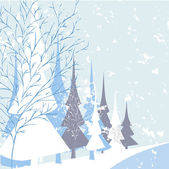 Winter nature background — Stock Vector