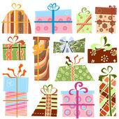 Gift box set — Stock Vector
