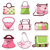 Set woman's bags — Stock Vector