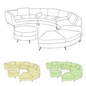 Soffa design — Stockvektor