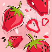 Pattern of strawberry — Stock Vector