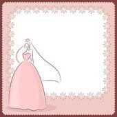 Bruiloft kaart — Stockvector