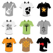 T shirt design set — Stock Vector