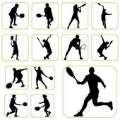 Tennis set — Stock Vector