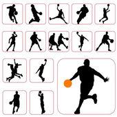 Basketball set — Stock Vector