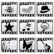 Film with symbols — Stock Vector