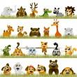 Cartoon animals (big set) — Stock Vector
