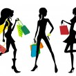 Shopping woman — Stock Vector #10201014