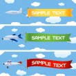 Planes with message — Stock Vector