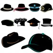 Hat set — Stock Vector