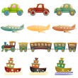 Cartoon vehicles - Stock Vector