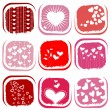 Royalty-Free Stock Vector: Heart set