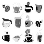 Elementi di design caffè — Vettoriale Stock