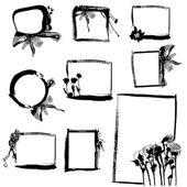 Grunge frame set — Stock Vector