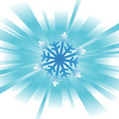 Abstract snowflake background — Stock Vector