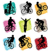 Bicycle set — Stock Vector