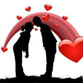 Couple love — Stock Vector