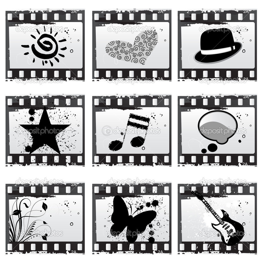 Film with symbols vector — Stock Vector #10200915