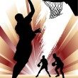 Stock Vector: Basketball silhouette design