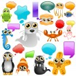 Royalty-Free Stock ベクターイメージ: Marine life cartoon character