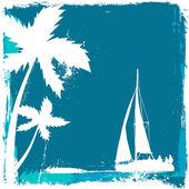 Tropical sailing — Cтоковый вектор