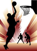 Basketball silhouette design — Stock Vector