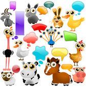 Dibujos animados de animales de granja — Vector de stock