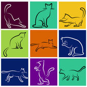 Cat series — Stock Vector