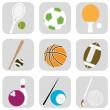 Sport ball icons — Stock Vector
