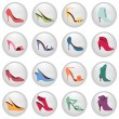 Woman shoes icon — Stock Vector