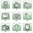 technology icons — Stock Vector