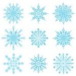 Snowflakes symbols — Stock Vector