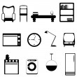 Vector de stock : Furniture icons