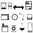 Furniture icons — Stock Vector
