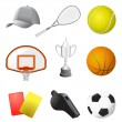 Sport items - Stockvektor