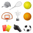 Sport items - Stockvectorbeeld