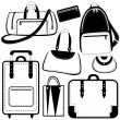 Bag set — Stock Vector