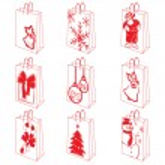 Christmas shopping bag set — Stock Vector