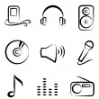 Music icons — Stock Vector #10438898