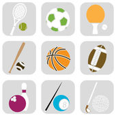 Sport ball icons — Stock Vector