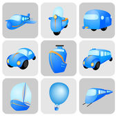 Vehicle icons — Stock Vector
