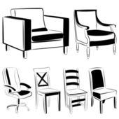 Furniture set — Stock Vector