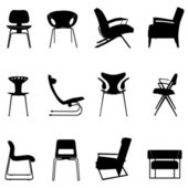 Chair set — Stockvektor