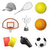Sport items — Vector de stock