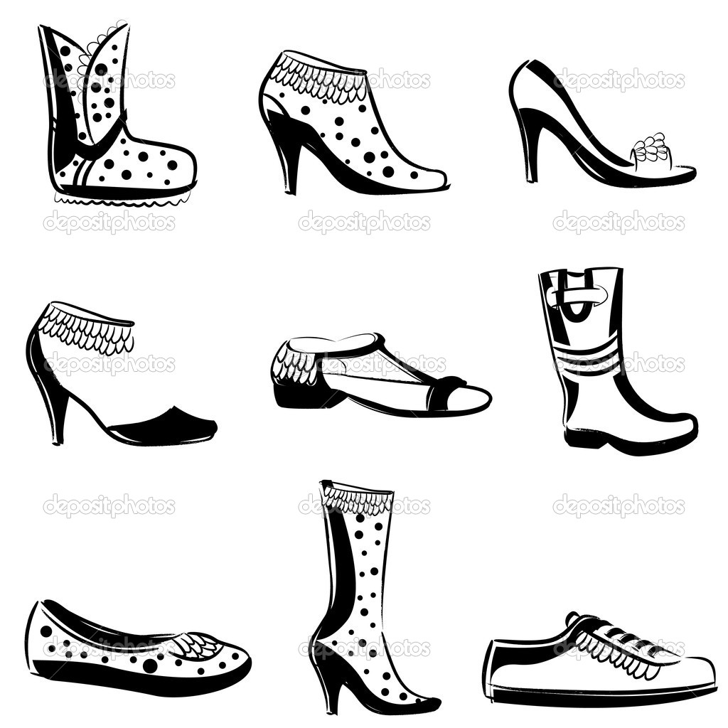 Fashion woman shoes set  Stock Vector #10437511