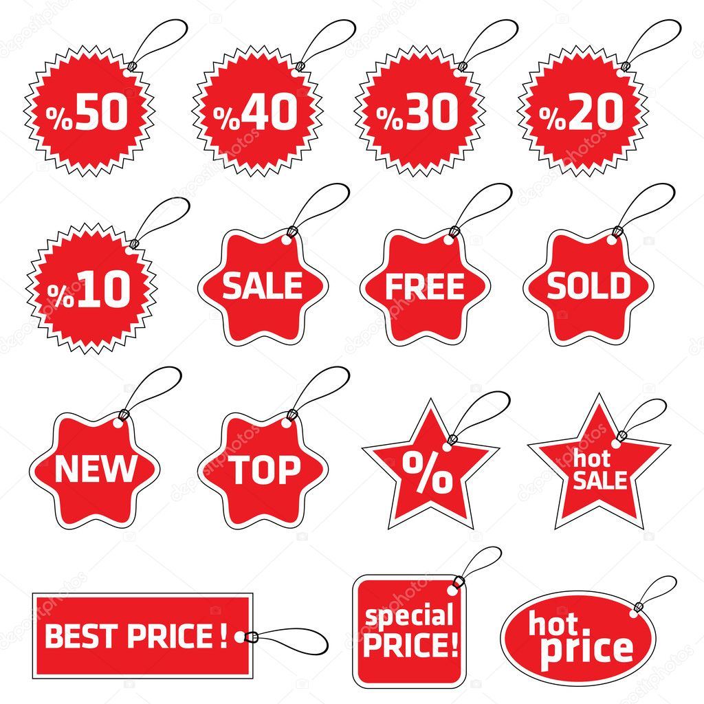 Shopping tag set — Stockvektor #10438094