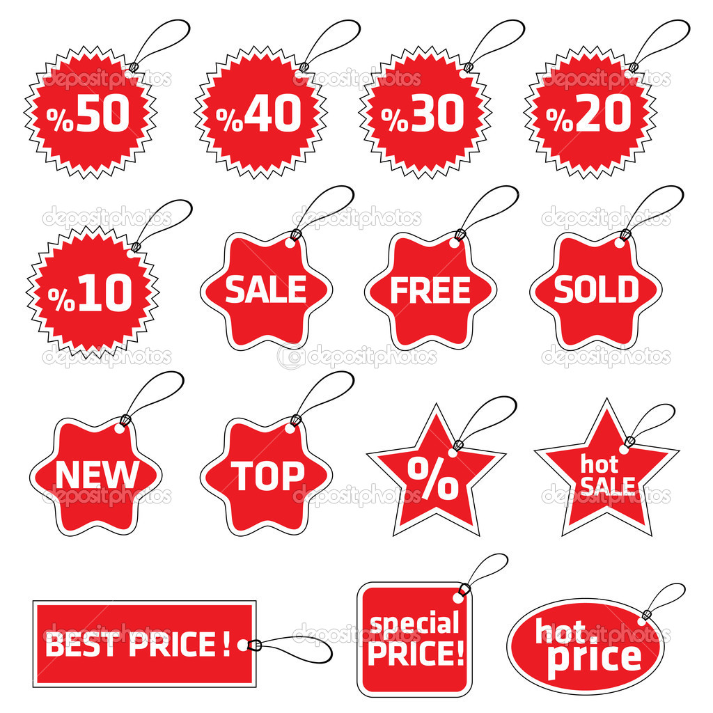 Shopping tag set — Stock vektor #10438094