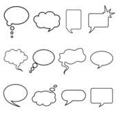 Praat bubble — Vector de stock