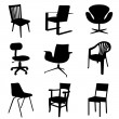 Stock Vector: Chair set