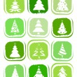 Royalty-Free Stock Immagine Vettoriale: Pine tree icons